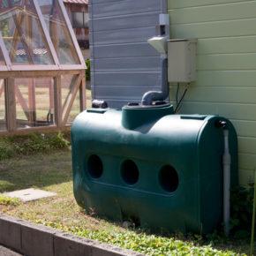 溜まった水は、畑、庭の散水に使っています
