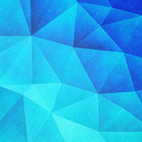 abstract polygon multi color cubizm painting in ice blue philipp rietz 2