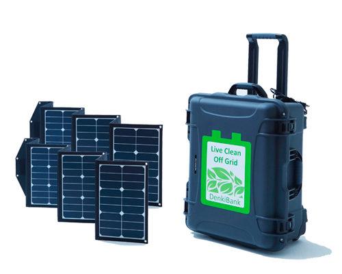 自然エネルギーをいつでもどこでも使える「でんきバンク」の販売